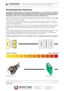 Klaschka Hochtemperatur-Sensoren