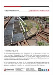 WAGNER Applikationsbericht Uni Split Gland® in der Bahntechnik Applikation